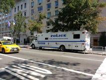 New York City, police patrouillent le nord de Manhattan de ville, véhicule de NYPD, le Département de Police de New York, NYC, NY Photo stock