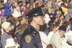 New York City polis Fotografering för Bildbyråer