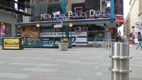 New York City polisstation stock video