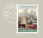 New York City postage stamp design. Royalty Free Stock Photo
