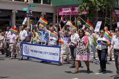 New York City Pride Parade - NYC Council Royalty Free Stock Photos