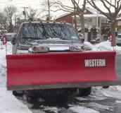 New York City pronto para limpa depois que as tempestades de neve maciças golpeiam para o nordeste Fotos de Stock Royalty Free