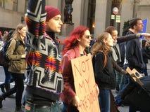 New York City; Protesta del triunfo Imagenes de archivo