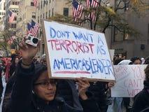 New York City ; Protestation d'atout Photographie stock libre de droits
