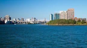 New York City Queensboro Bridge and Long Island City Royalty Free Stock Image
