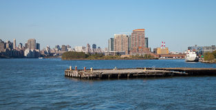 New York City Queensboro Bridge and Long Island City Royalty Free Stock Images