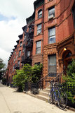 New York City rödbruna sandstenar Arkivbilder