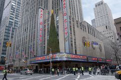 New york city radio city music hall. A shot of Radio City in new york city Royalty Free Stock Images