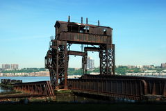 New York City: Railroad Pier Ruins Royalty Free Stock Photo