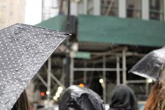 New York City on a rainy day stock images