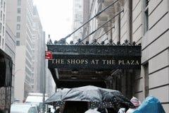 New York City on a rainy day stock image