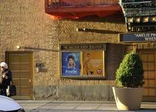 New York City 3rd Juli: Walter Kerr Theatre i midtownen Manhattan från New York City i Förenta staterna fotografering för bildbyråer