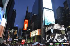 New York City, 3rd July: Times Square by night in Midtown Manhattan from New York City in United States Royalty Free Stock Images