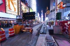 NEW YORK CITY, reconstrucción del Times Square Fotografía de archivo libre de regalías