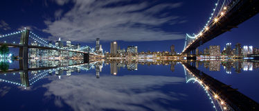 New York City reflection Stock Image