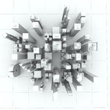 New York City (rendered, white). New York City (rendered, white, 3d Royalty Free Stock Images