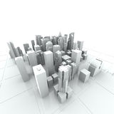 New York City (rendered, white). New York City (rendered, white, 3d Royalty Free Stock Photography