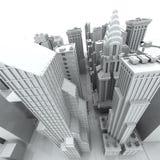New York City (rendered, white). New York City (rendered, white, 3d Stock Photo
