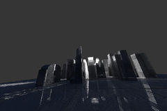 New York City (rendered, white, wire mesh) Royalty Free Stock Photo