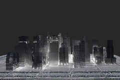 New York City (rendered, white, wire mesh) Royalty Free Stock Image