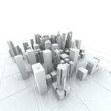New York City (rendido, blanco) Fotografía de archivo libre de regalías