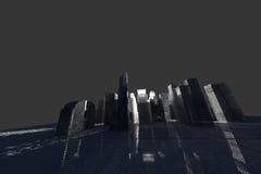 New York City (rendido, blanco, acoplamiento de alambre) stock de ilustración