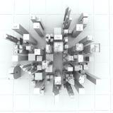 New York City (rendido, branco) Imagens de Stock Royalty Free