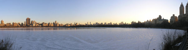 New York City  reservoir in panoramic Royalty Free Stock Photos