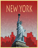 New York City Retro Poster Stock Photos