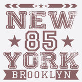 New York City retro vintage typography poster, t-shirt Printing design, vector Badge Applique Label Stock Photo