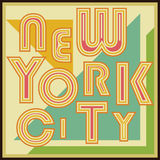 New York City retro vintage typography poster, t-shirt Printing design, vector Badge Applique Label Royalty Free Stock Photo