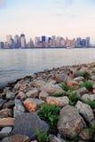 New York City river shore Royalty Free Stock Photo