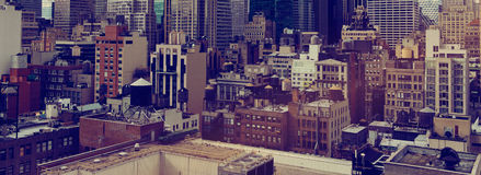 New York City Rooftops and Skyscrapers Stock Photo