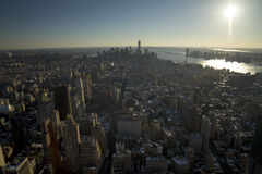 New York City södra sikt Arkivbild