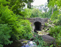 New York City's Central Park. Quaint stone bridge in New York City's Central park Stock Image