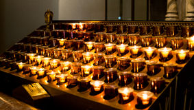 New York City Saint Patricks Cathedral Interior Candles Stock Photography
