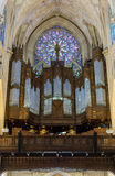 New York City Saint Patricks Cathedral Rose Window and Pipe Organ Royalty Free Stock Photos