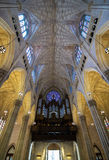 New York City Saint Patricks Cathedral Rose Window and Pipe Organ Stock Photos