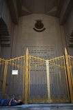 New York City: Salvation Army citadel homeless man royalty free stock image