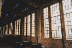 New York City Scape del Highline y de la arquitectura única trainstation viejo imagenes de archivo
