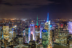 New York city scenic view. NEW YORK, USA - SEPTEMBER 30, 2015: New York cityscape view from the roof of Empire State Building.Manhattan is financial and economic Stock Photography