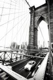 New York City Segno, mattoni, vicino al ponte di Brooklyn Fotografie Stock Libere da Diritti