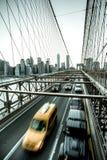 New York City Segno, mattoni, vicino al ponte di Brooklyn Immagine Stock Libera da Diritti