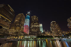 NEW YORK CITY - SEPTEMBER 17: World Trade Center. NEW YORK CITY - SEPTEMBER 17: One World Trade Center (known as the Freedom Tower) is shown under new stock photography