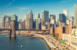 NEW YORK CITY - SEPTEMBER 21, 2015: City skyline and skyscrapers Royalty Free Stock Images