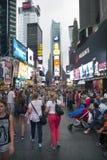 New York City 12 september 2015: många personer tycker sig om nollan Royaltyfria Bilder