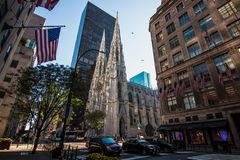St. Patrick`s Cathedral facade royalty free stock image