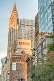 NEW YORK CITY - SEPTEMBER 2015: Street view of Chrysler building Royalty Free Stock Image