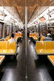 NEW YORK CITY - SEPTEMBER 01: Subway wagon on September 01, 2013 Royalty Free Stock Photography