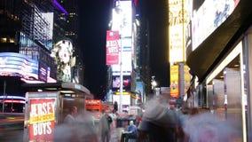 New York City - september 16: tider kvadrerar broadway det berömda området som symbol av Förenta staterna September 16, 2014 i ma stock video